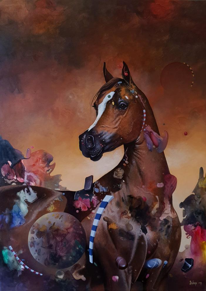 Ponedeljak, 70×50 cm, akril-ulje na platnu, 2019.